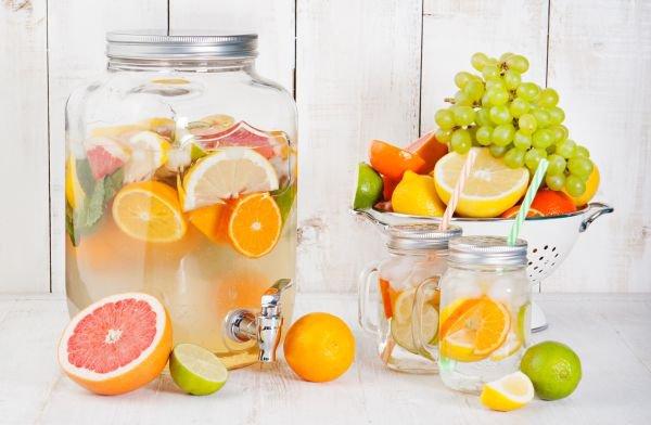 águas-saborizadas bebidas refrescantes