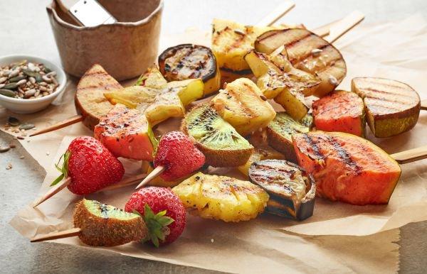 acompanhamento para churrasco -frutas