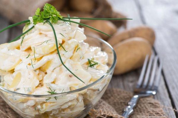 acompanhamento para churrasco maionese de batata