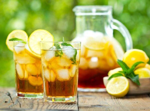 chá-gelado bebidas refrescantes