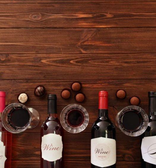 harmonização de vinhos e chocolate