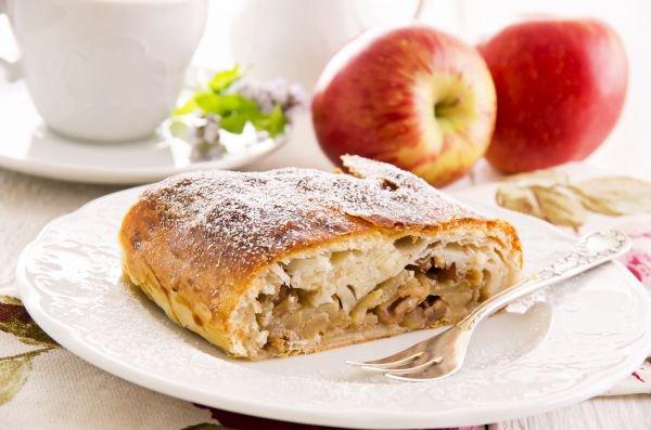 sobremesa sem chocolate - torta de maçã
