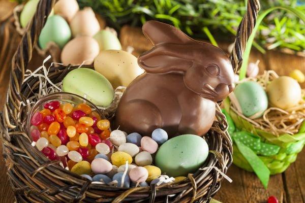 cesta de Páscoa - criança