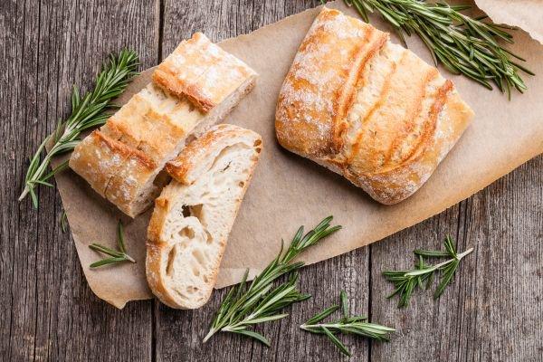 harmonização de pães e vinhos ciabatta