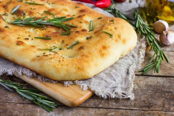 harmonização de pães e vinhos focaccia