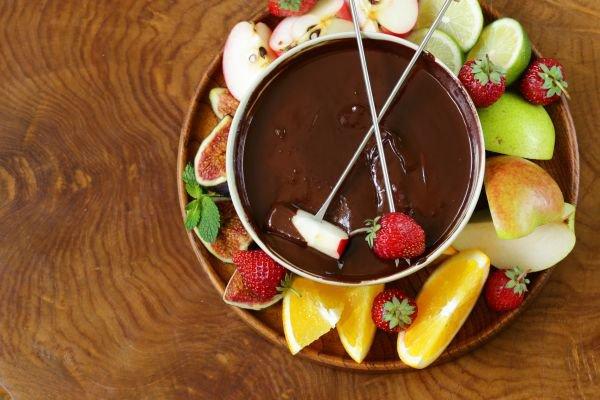 comer fondue vinhos - chocolate