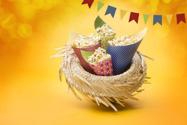 decoração de festa junina pipoca