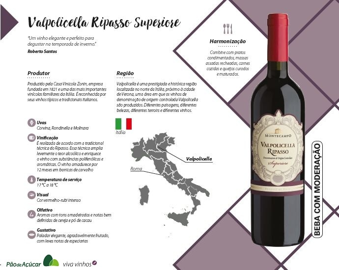 pão de açúcar viva vinhos Valpolicella