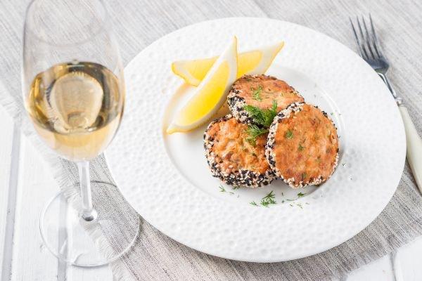 hambúrguer com vinho - peixe