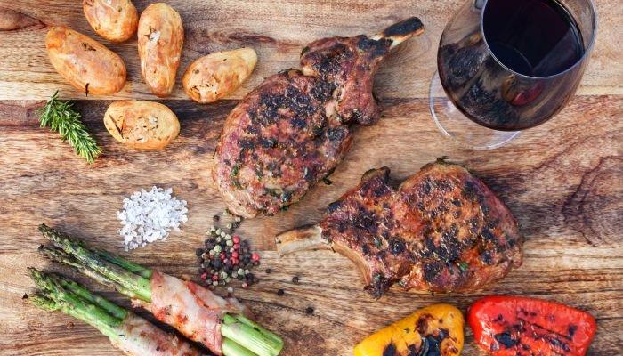 harmonização de vinhos e carne - carne de porco