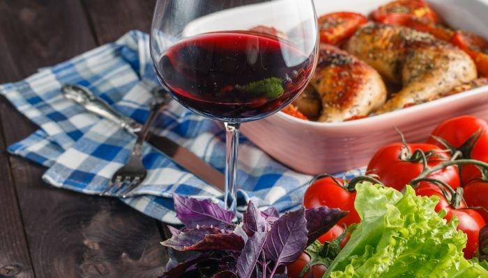 harmonização de vinhos e carne - frango
