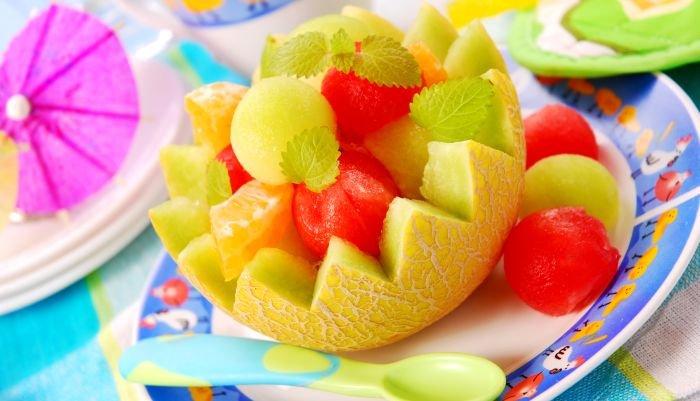 lanchinho da tarde - bolinhas de melão