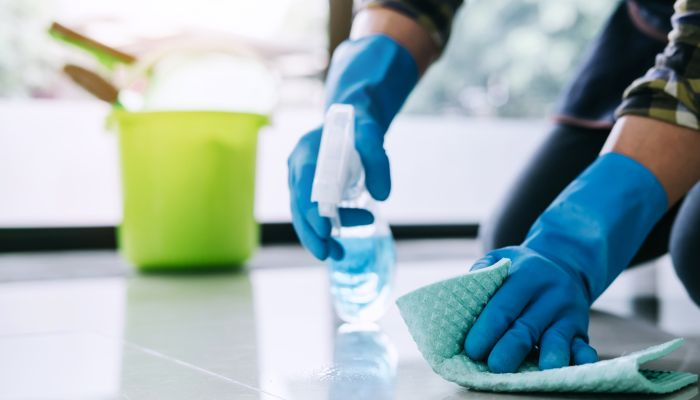 limpeza da casa chão
