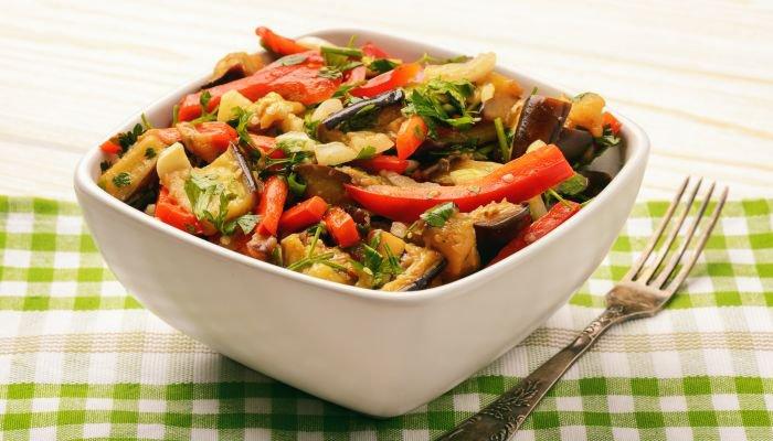 saladas para acompanhar o churrasco - beringela