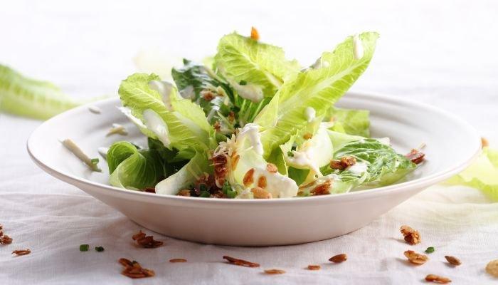 saladas para acompanhar o churrasco - folhas