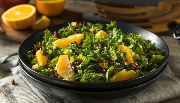 saladas para acompanhar o churrasco - laranja