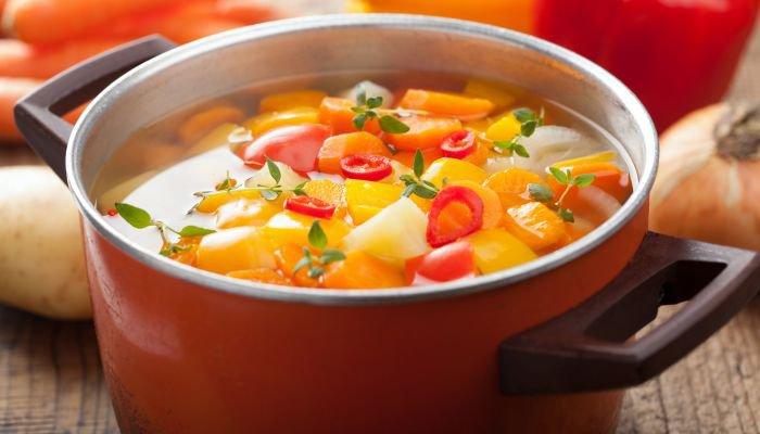 cozinhar legumes e vegetais - água