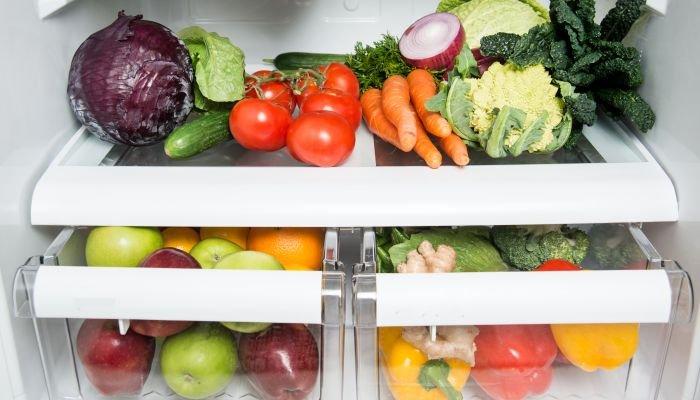 cozinhar legumes e vegetais - geladeira