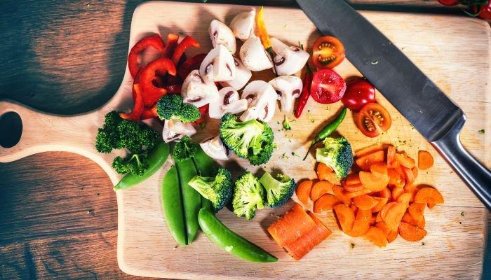 cozinhar legumes e vegetais - mise en place