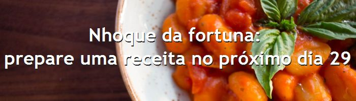 dia do blog - nhoque