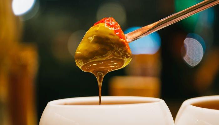 fondue de doce de leite - texto
