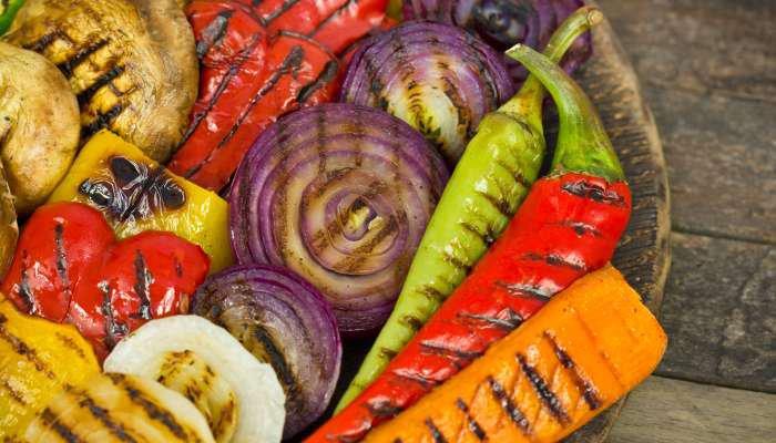 comida vegetariana - legumes grelhados