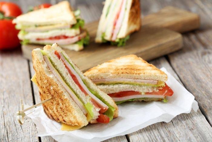 comidas para piquenique - sanduíche