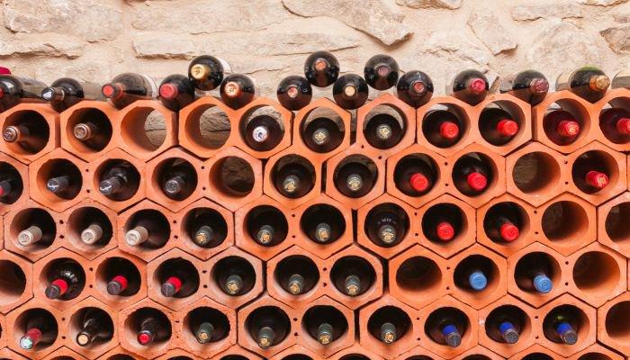 guardar vinhos - posição