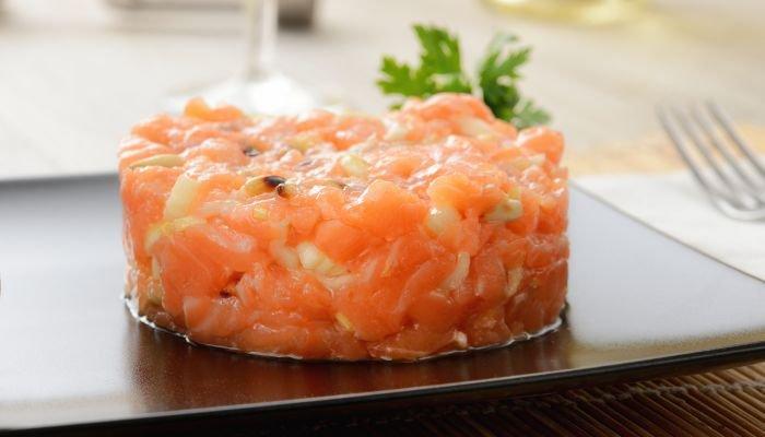 tartar de salmão - texto
