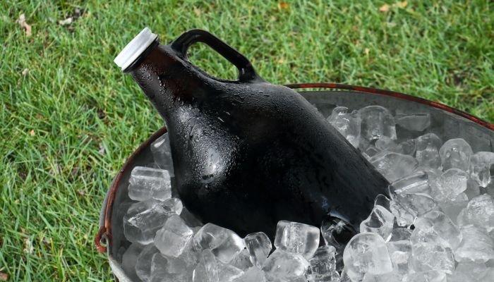 growler para cerveja gelo
