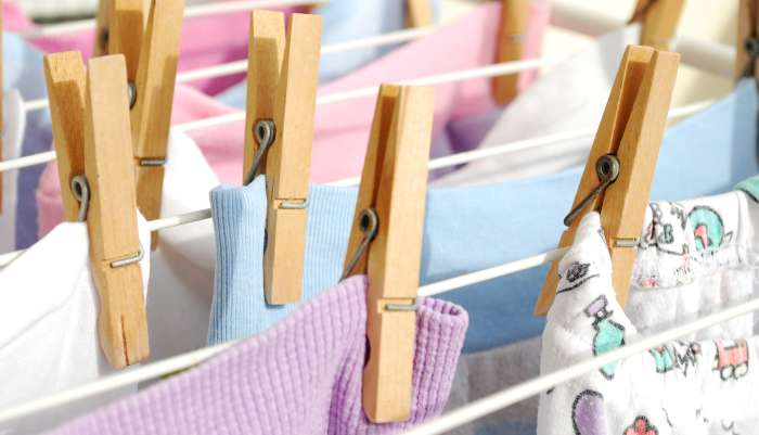 lavar a roupa do bebê - secar