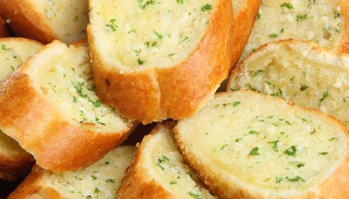 tipos de pão de alho - manteiga