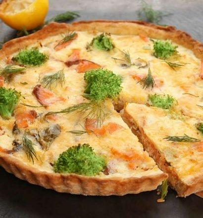 torta de brócolis e salmão - capa