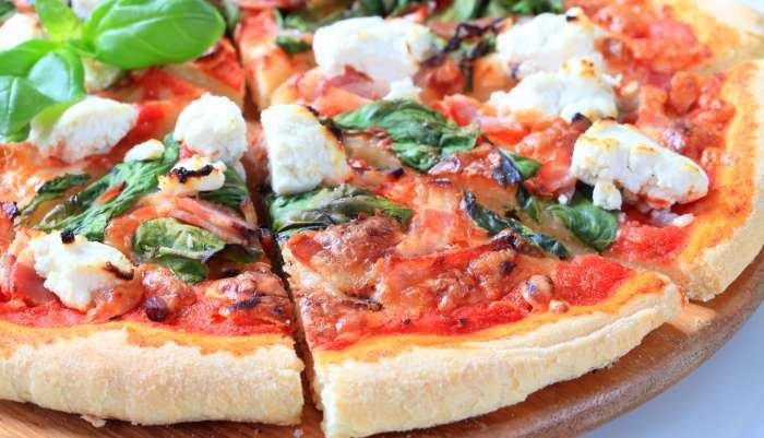 pizza de espinafre - texto