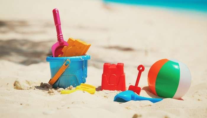 praia com crianças - brincadeira