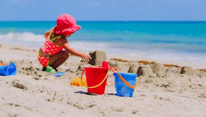 praia com crianças - texto