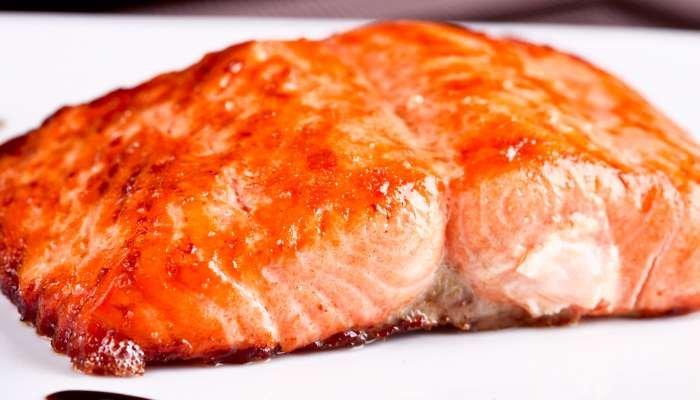salmão assado com uvas - texto