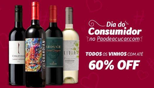 Compre vinhos com até 60% OFF no Dia do Consumidor!