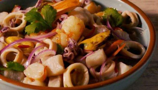 [Receita] Ceviche de peixe e frutos do mar