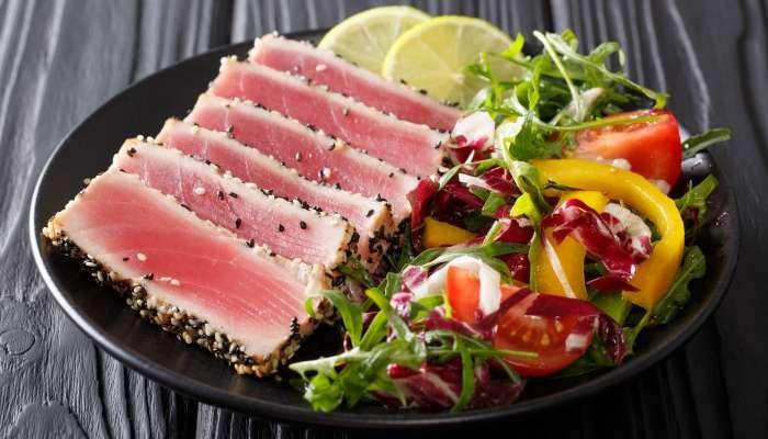 harmonização de vinhos e peixes - atum