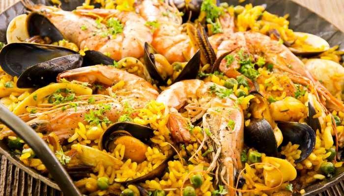 harmonização de vinhos e peixes - paella