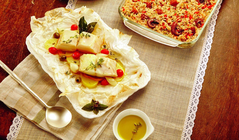 receita de bacalhau com legumes - capa
