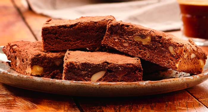 brownie de café e chocolate meio amargo - texto