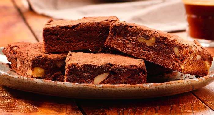 brownie de café e chocolate meio amargo - texto