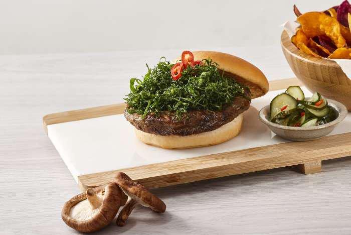 hambúrguer de cogumelo - texto