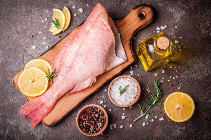 carne de peixe - corte
