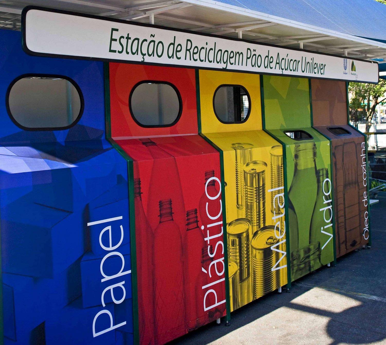 estação de reciclagem pão de açúcar unilever