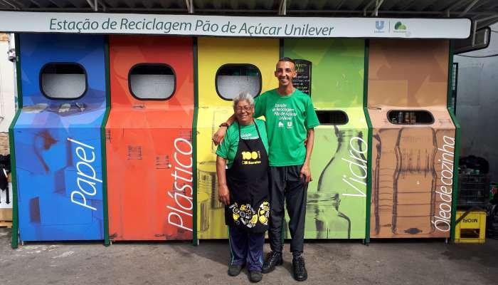 estação de reciclagem pão de açúcar unilever - cooperativa