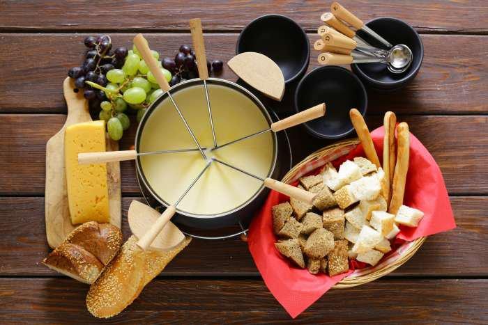 acompanhamento para fondue - queijo