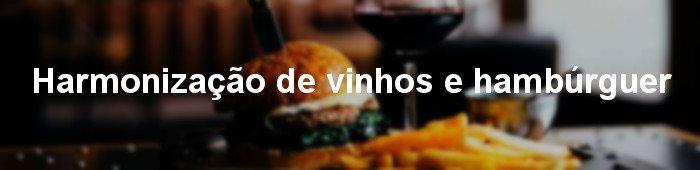 harmonização de vinhos e hamburguer